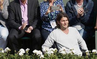 Jérôme Golmard dans les tribunes de Roland-Garros, le 31 mai 2014.