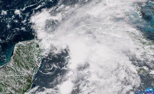 Une image satellite de la tempête subtropicale Alberto qui cause en ce moment des inondations à Cuba.