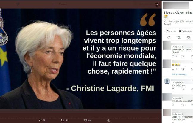Il n'y a pas de traces de tels propos de Christine Lagarde.