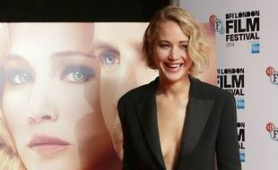 Jennifer Lawrence à Londres en 2014