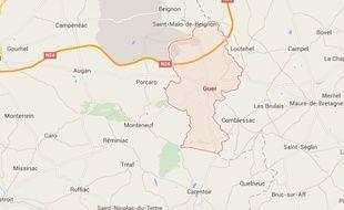 Le corps de la victime a été découvert à Guer, commune située à la frontière entre le Morbihan et l'Ille-et-Vilaine.