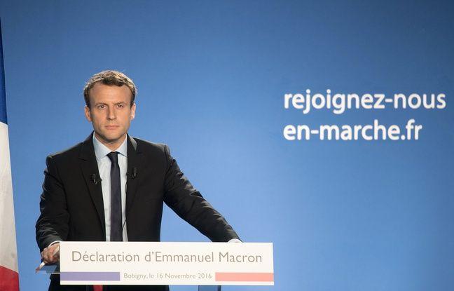 Emmanuel Macron, ex-ministre de l'économie, le 16 novembre 2016 lors de l'annonce officielle de sa candidature aux prochaines élections présidentielles.