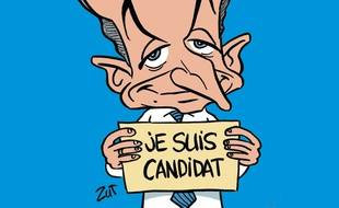 La Une de Sarko Hebdo, dessinée par Man (Zut).