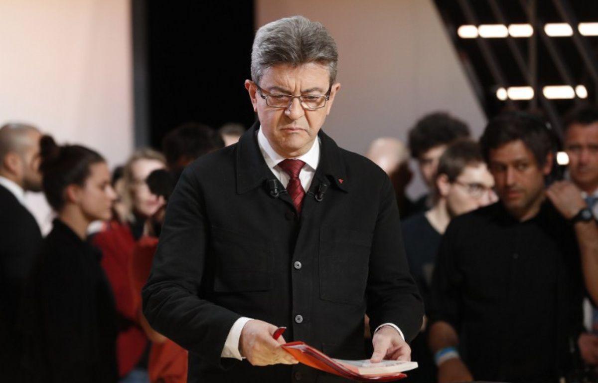 Jean-Luc Mélenchon lors du premier débat télévisé sur TF1. – PATRICK KOVARIK