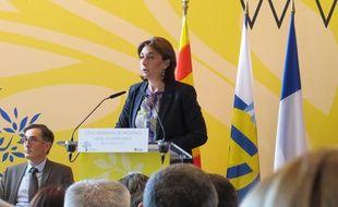 Marseille, le 18 juin 2015, Martine Vassal président du conseil départemental des Bouches-du-Rhône.