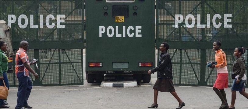 Des barrages anti-émeute au Kenya, ici en 2017 lors de manifestations précédentes. (archives)