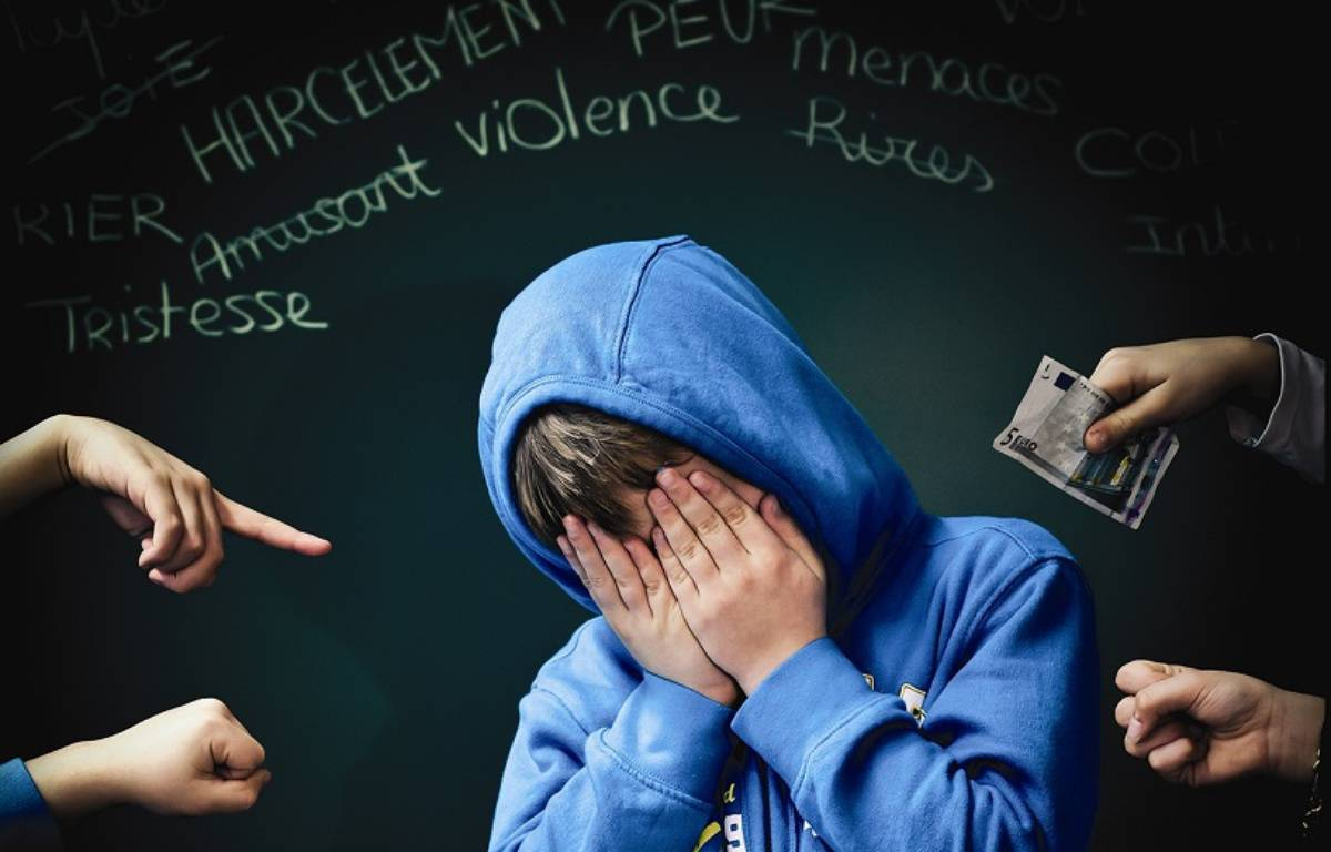 Extrait d'une affiche gagnante du concours «Mobilisons-nous contre le harcèlement»  – Ecole élémentaire Dupouy– académie de Toulouse