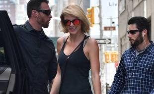 La chanteuse Taylor Swift dans les rues de Manhattan