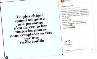 Post Instagram de Karine Le Marchand publié le 15 juin 2016.