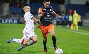 Le défenseur montpelliérain Cyril Jeunechamp, le 31 octobre 2012, contre Bordeaux.