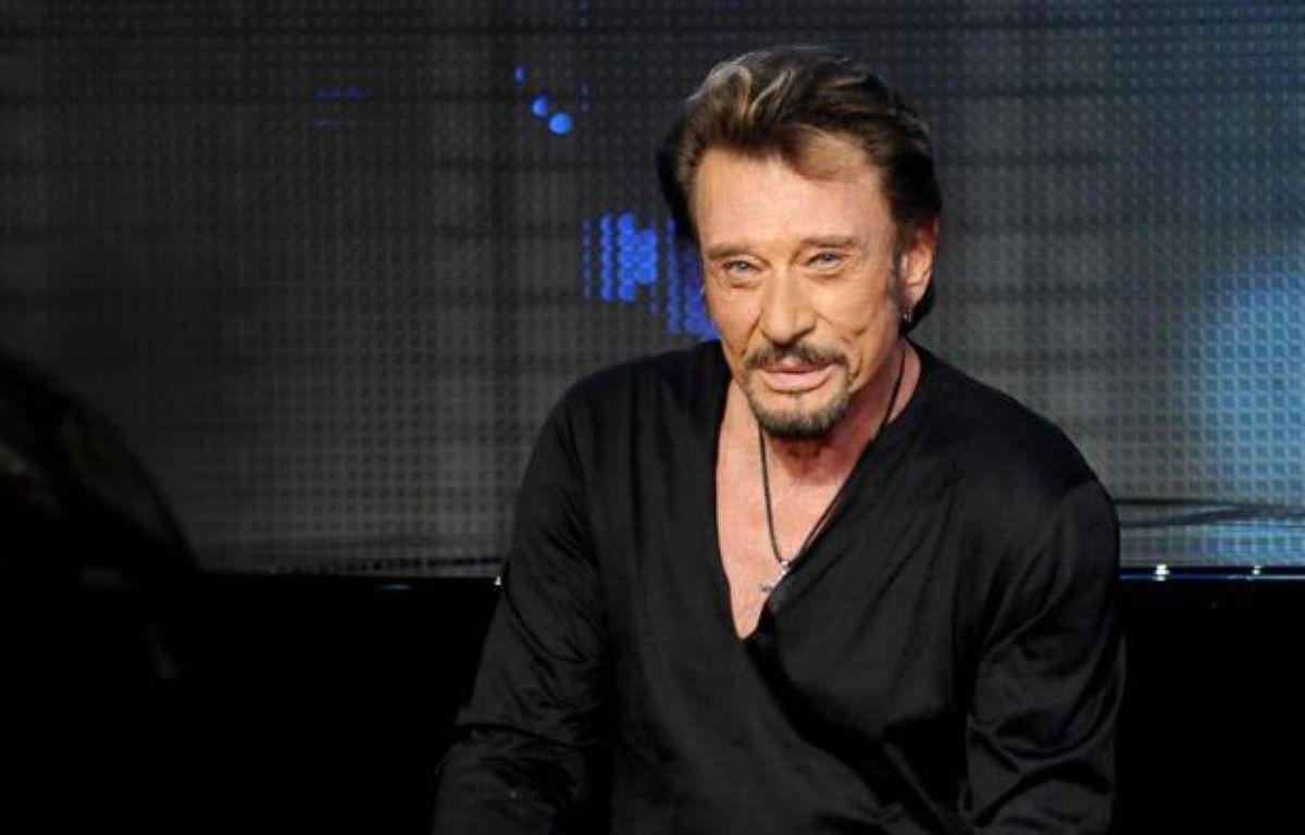 Johnny Hallyday participe pour la premiere fois au Telethon en décembre 2012. – DURAND FLORENCE/SIPA