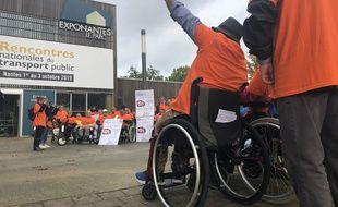 Manifestation d'APF France Handicap à Nantes le 1er octobre 2019
