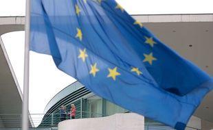 Illustration du drapeau européen, de l'Union européenne.