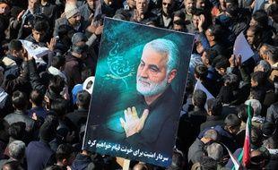 Des Iraniens rassemblées pour les funérailles de Qassem Soleimani, le 7 janvier 2020 à Téhéran.