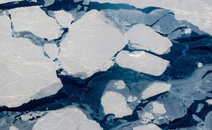La glace de l'Arctique (illustration).