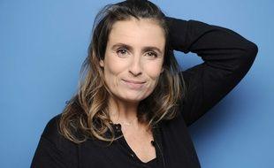 """La réalisatrice française Lisa Azuelos, le 3 decembre 2009 a l'occasion du tournage de l'émission """"Cinemas"""" sur France 5."""