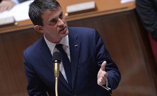 Le Premier ministre, Manuel Valls, lors des Questions au gouvernement,  le 24 juin 2015, à l'Assemblée nationale, à Paris.