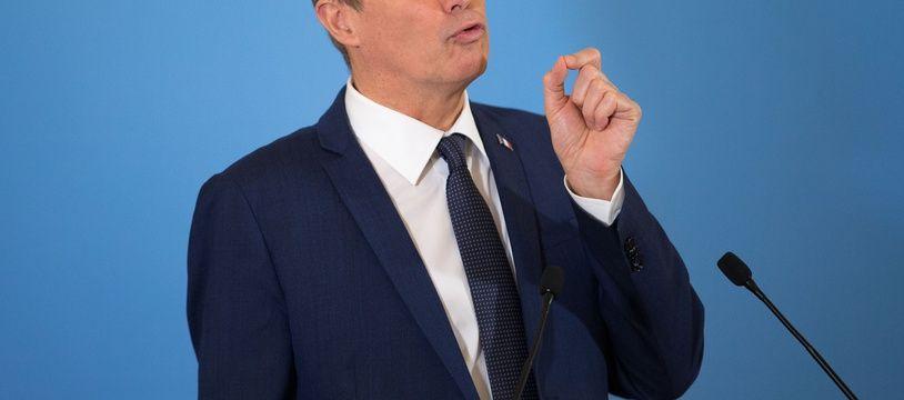 Nicolas Dupont-Aignan, le 18 janvier 2018 à Paris.