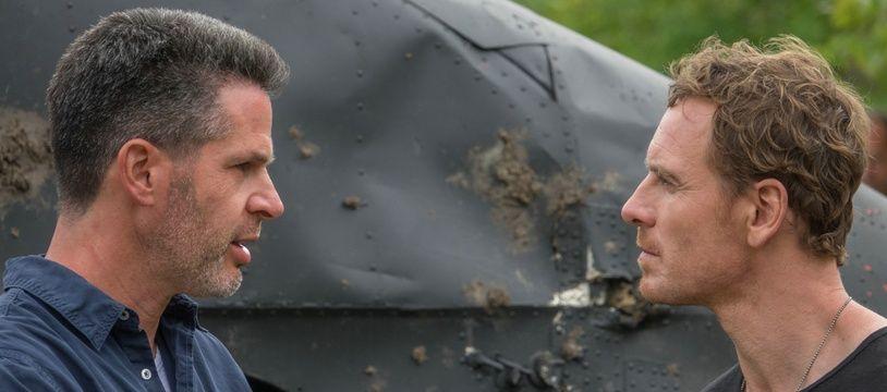 Le réalisateur Simon Kinberg et Michael Fassbender sur le tournage de «X-Men: Dark Phoenix»
