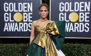 L'actrice et chanteuse Jennifer Lopez aux 77e Golden Globes
