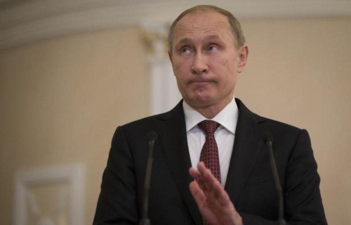 Vladimir Poutine annonce le 12 février 2015 un accord de cessez-le-feu sur l'Ukraine après une nuit de négociations à Minsk – Alexander Zemlianichenko Pool