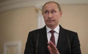 Vladimir Poutine annonce le 12 février 2015 un accord de cessez-le-feu sur l'Ukraine après une nuit de négociations à Minsk