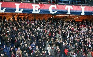 Les supporters du PSG lors du match contre l'OM, le 17 mars 2019 au Parc des Princes.