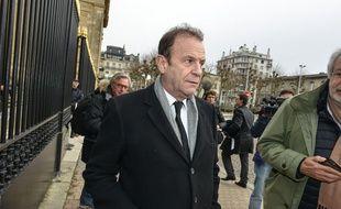 Francois Marie Banier  arrive au tribunal de Bordeaux au second jour du procès Bettencourt, le 27 janvier 2015