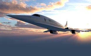 Un avion Overture de l'entreprise Boom Supersonic.