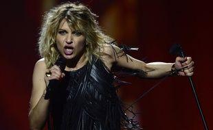 Amandine Bourgeois, représentante de la France à l'Eurovision 2013, à Malmö (Suède), le 18 mai 2013.