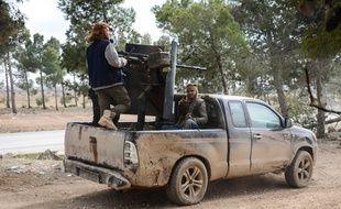 Des combattants de l'Armée syrienne libre près d'Al-Bab, le 4 février 2017.