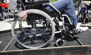Le 28 avril 2010 à Nantes, lors de la semaine de sensibilisation au handicap.