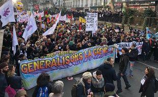 Les opposants à la réforme des retraites ont manifesté à Paris le 24 janvier 2020.