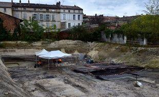 Sur la fin d'un chantier de fouilles à Angoulême, une gravure a été découverte.