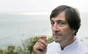 Le chef Olivier Roellinger à Cancale.