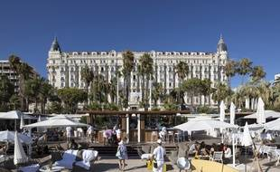 L'hôtel Carlton, à Cannes, en août 2020