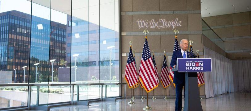 Le candidat démocrate Joe Biden à Philadelphie, le 20 septembre 2020.