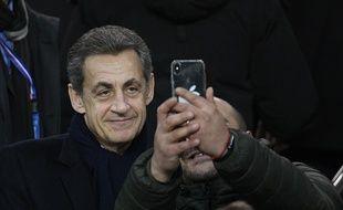 Nicolas Sarkozy au Parc des Princes le 24 janvier 2018