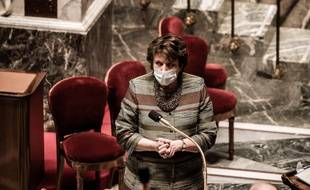 Roselyne Bachelot en mars 2021, à l'Assemblée nationale (illustration).