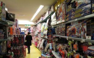 Un rayon de jouets de La Grande Récré en décembre 2015.