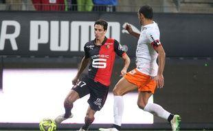 Vincent Pajot a été titularisé à 16 reprises en L1 cette saison avec le Stade Rennais. PIERRE MINIER/OUEST MEDIA/SIPA