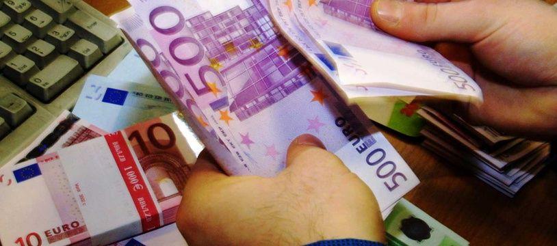 Une liasse de billets de 500 euros