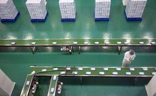 Une usine de fabrication de lait en poudre. Photo d'illustration.