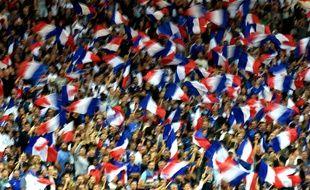 Les supporters français au Stadium de Toulouse lors du match contre le Luxembourg, le 3 septembre 2017.