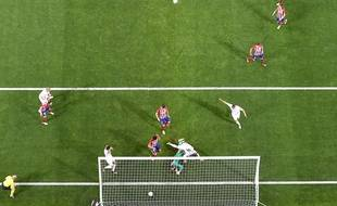 Le but de Sergio Ramos pour le Real Madrid contre l'Atletico, le 28 mai 2016.