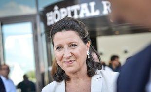 La ministre de la Santé, Agnès Buzyn, devant l'hôpital Robert-Boulin à Libourne le 7 septembre 2018.