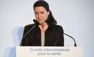 La ministre de la Santé Agnès Buzyn lors du point presse après le comité inter-ministériel sur le plan de prévention santé lundi 26 mars 2018.