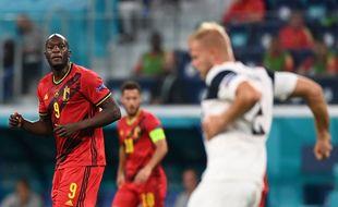 Lukaku lors de Belgique-Finlande à l'Euro.