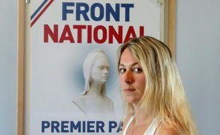 Anne-Sophie Leclère, ancienne candidate FN aux municipales, à Rethel dans les Ardennes, le 16 juillet 2014