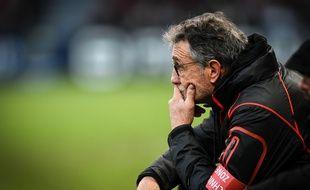 Le manager général du Stade Toulousain Guy Novès lors du match de Coupe d'Europe contre les Anglais de Bath, le 18 janvier 2015.